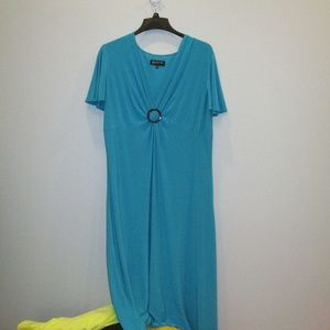 Jones New York Plus Size Dress Size 18W Aqua